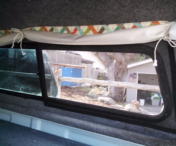 Removable Screens for a Truck Camper Shell
