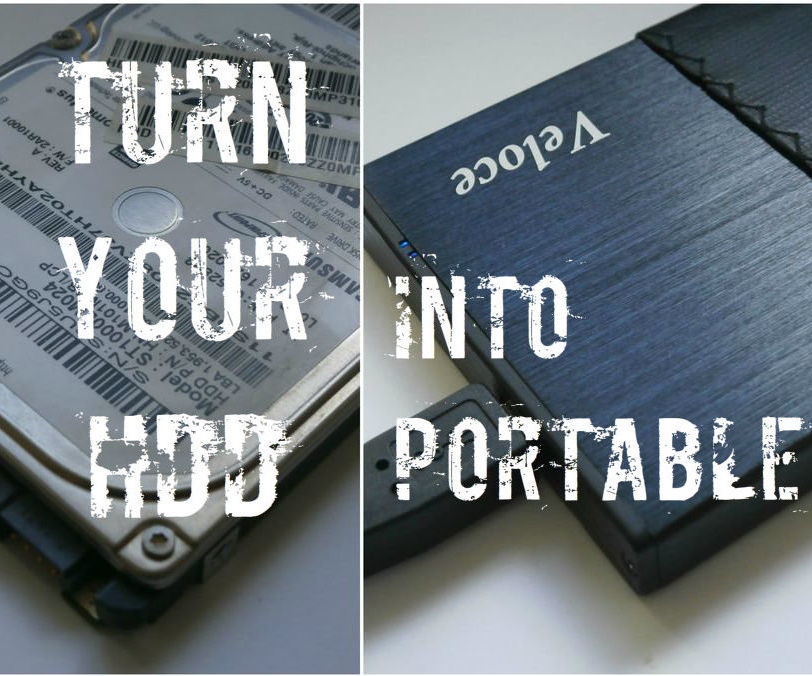 Turn Your Old 2.5'' Or 3.5'' Hard Drive Into Portable