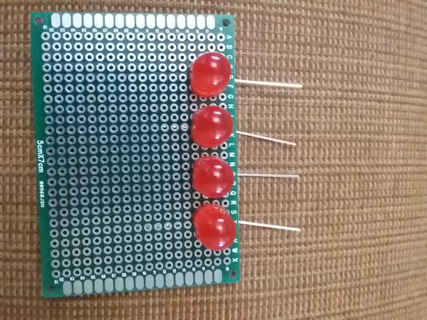 Inserting the LEDs