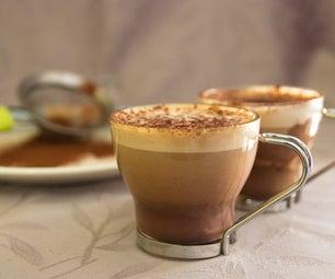 制作意大利咖啡和巧克力的extravaganza!