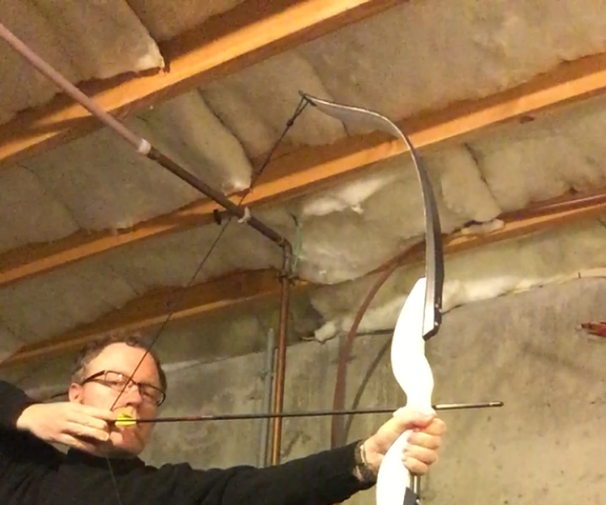 Modern recurve bow from skis!