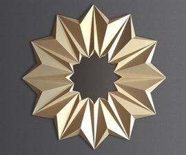 折纸镜框从纸张