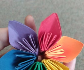 Create a 3D Rainbow Flower!