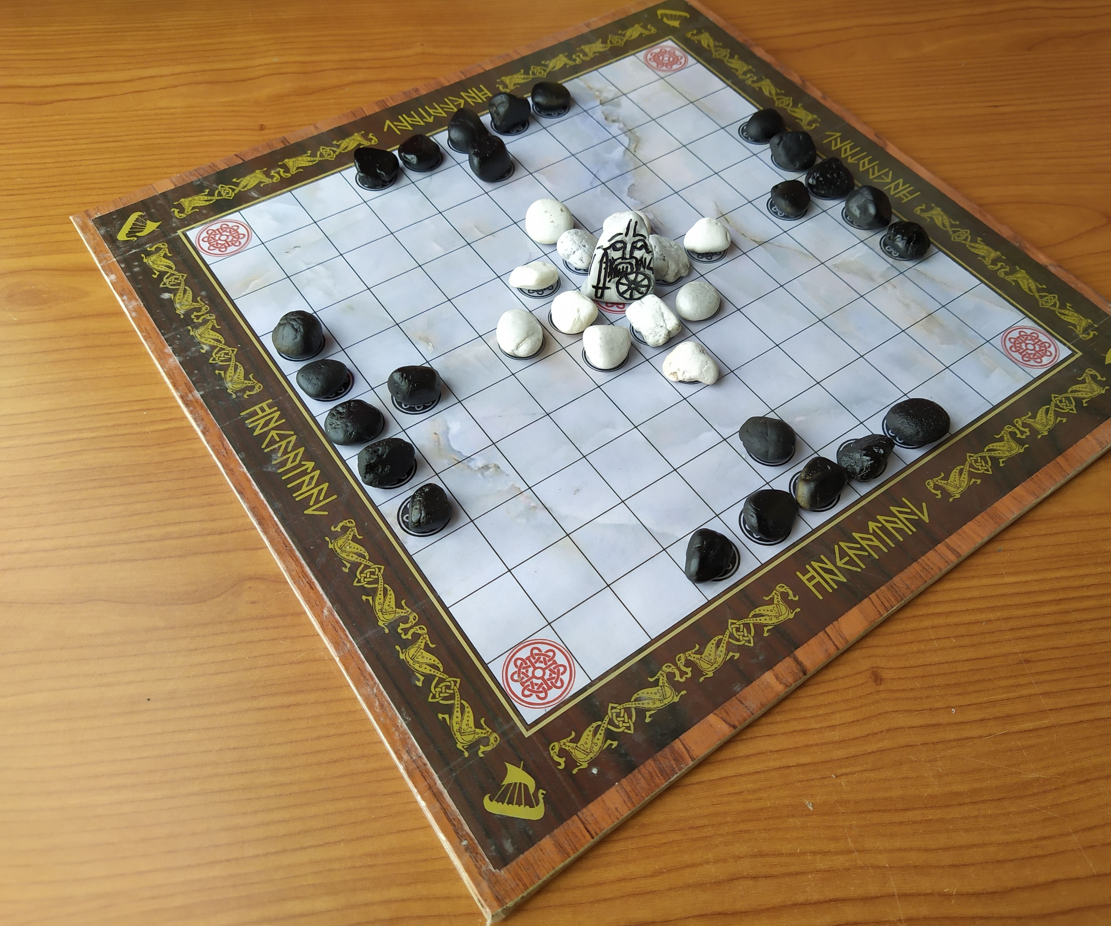 (Probably) the Cheapest Hnefatafl Gameboard in the World