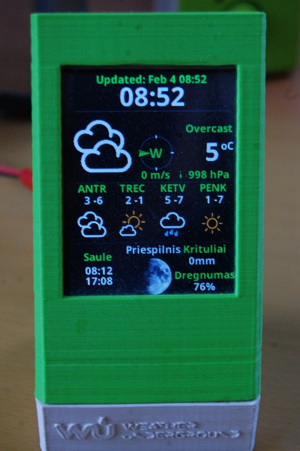 DIY Personal Weather  Station Monitor