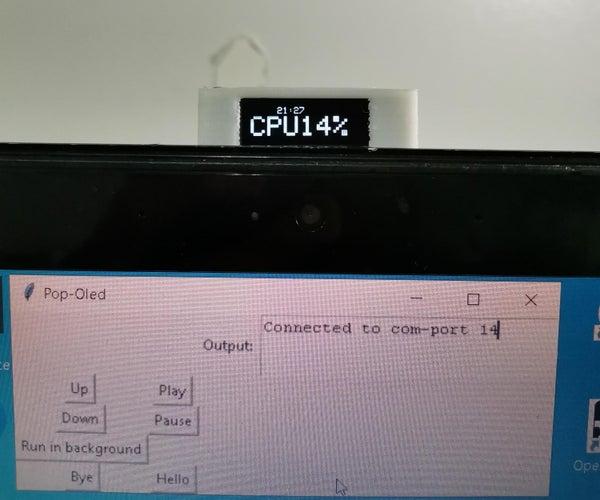 Laptop Mod: the Pop-Up CPU Monitor Display