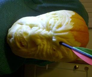 Arrow-Through-the-Head Pumpkin. Ouch!