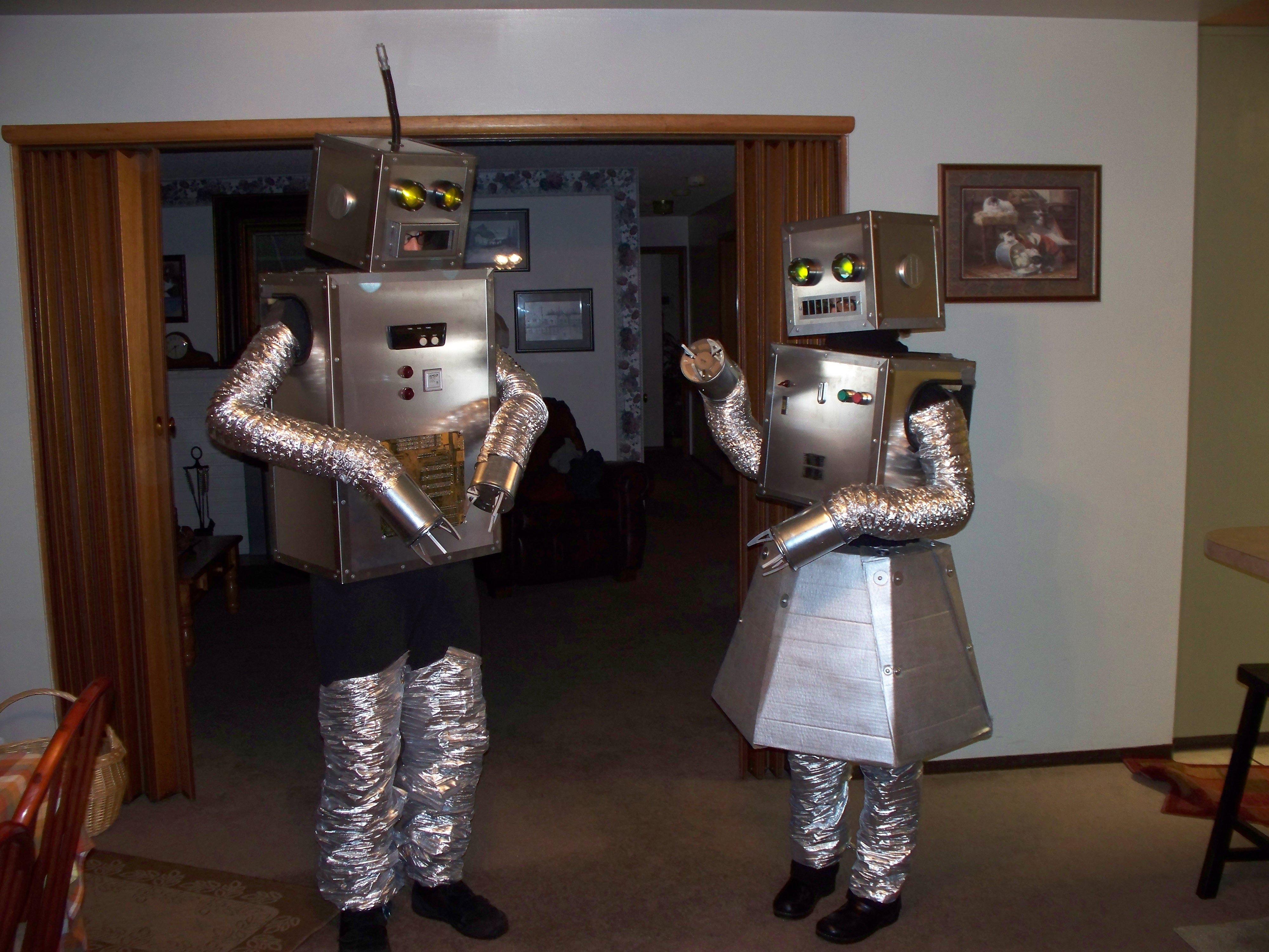 Costume Halloween Robot.How To Build Robot Halloween Costumes 9 Steps With Pictures Instructables