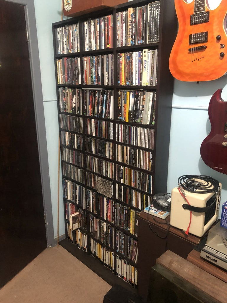 DVD/CD Cabinet Mod to Maximise Storage