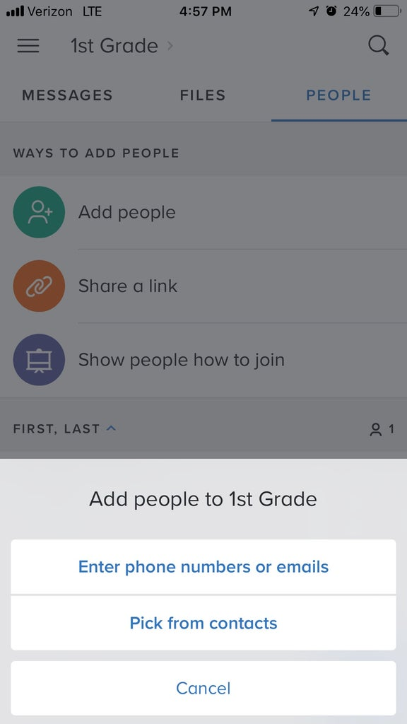 Choose How to Add Contacts