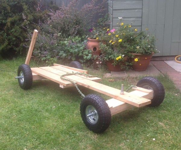 Traditional Wooden Downhill Racer
