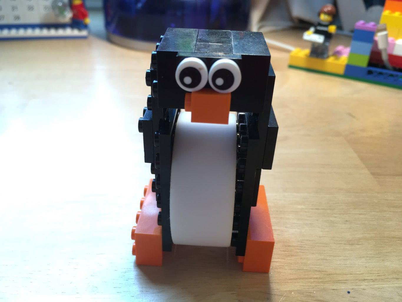 Lego Penguin Tape Dispenser