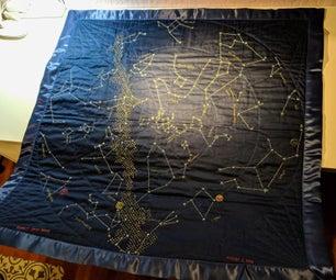 Birthday Glow-in-the-Dark Constellation Quilt