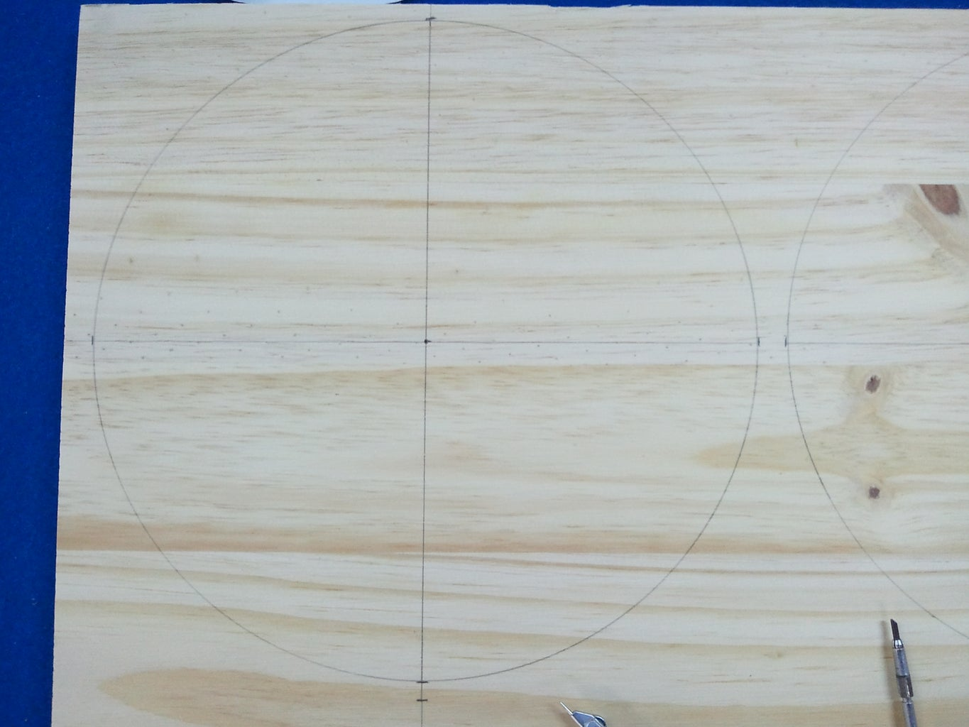 Cutting Out the Wooden Circles