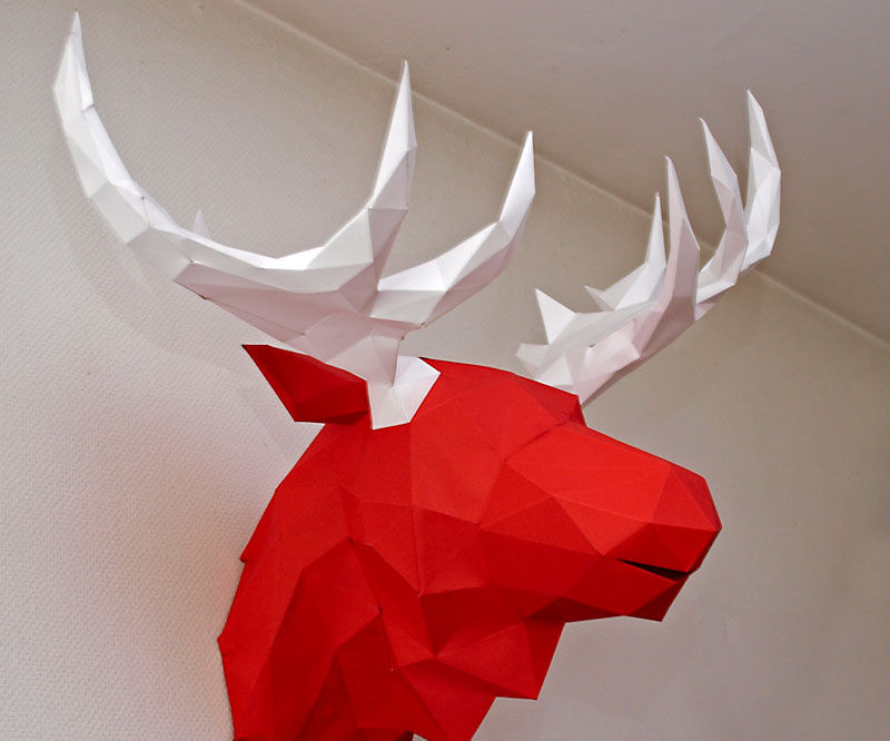 Bonus: The papercraft moose