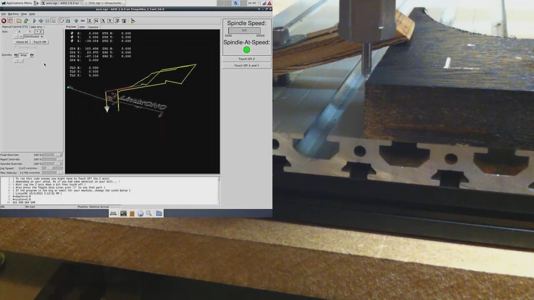Zeroing a CNC With a USB Microscope