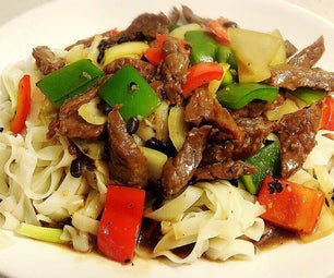 Rice Noodle With Beef & Black Bean Sauce