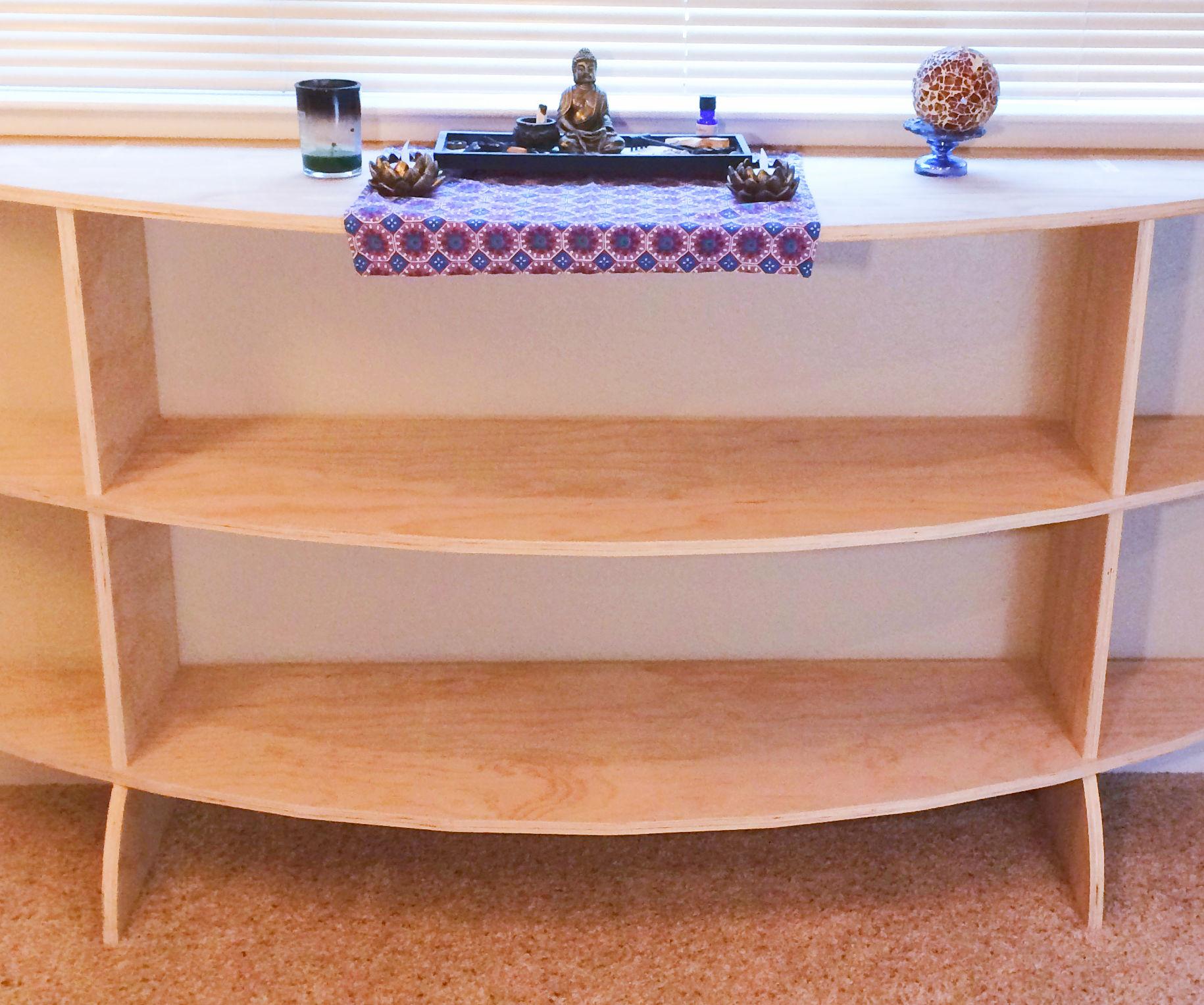 LuxO's Super EZ Half Moon Shelf