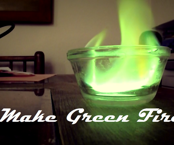 How to Make Green Fire From Laundry Booster
