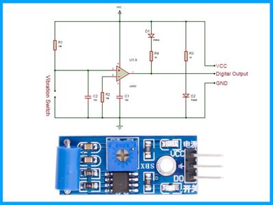 Vibration Detection With SW-420 Sensor Module