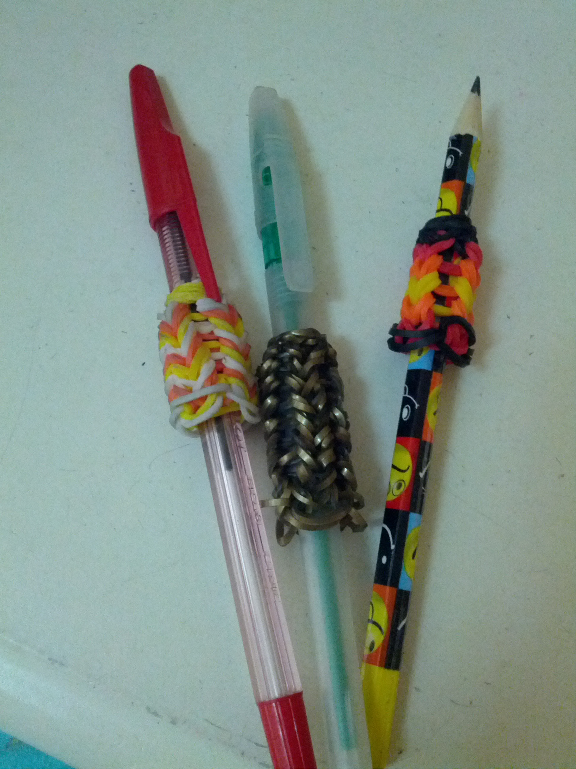 Rainbow Loom Pencil Grip