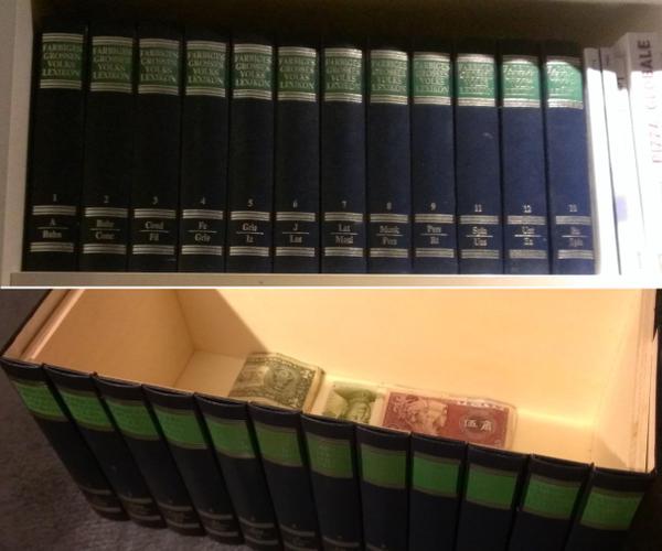 Hidden Bookshelf Drawer