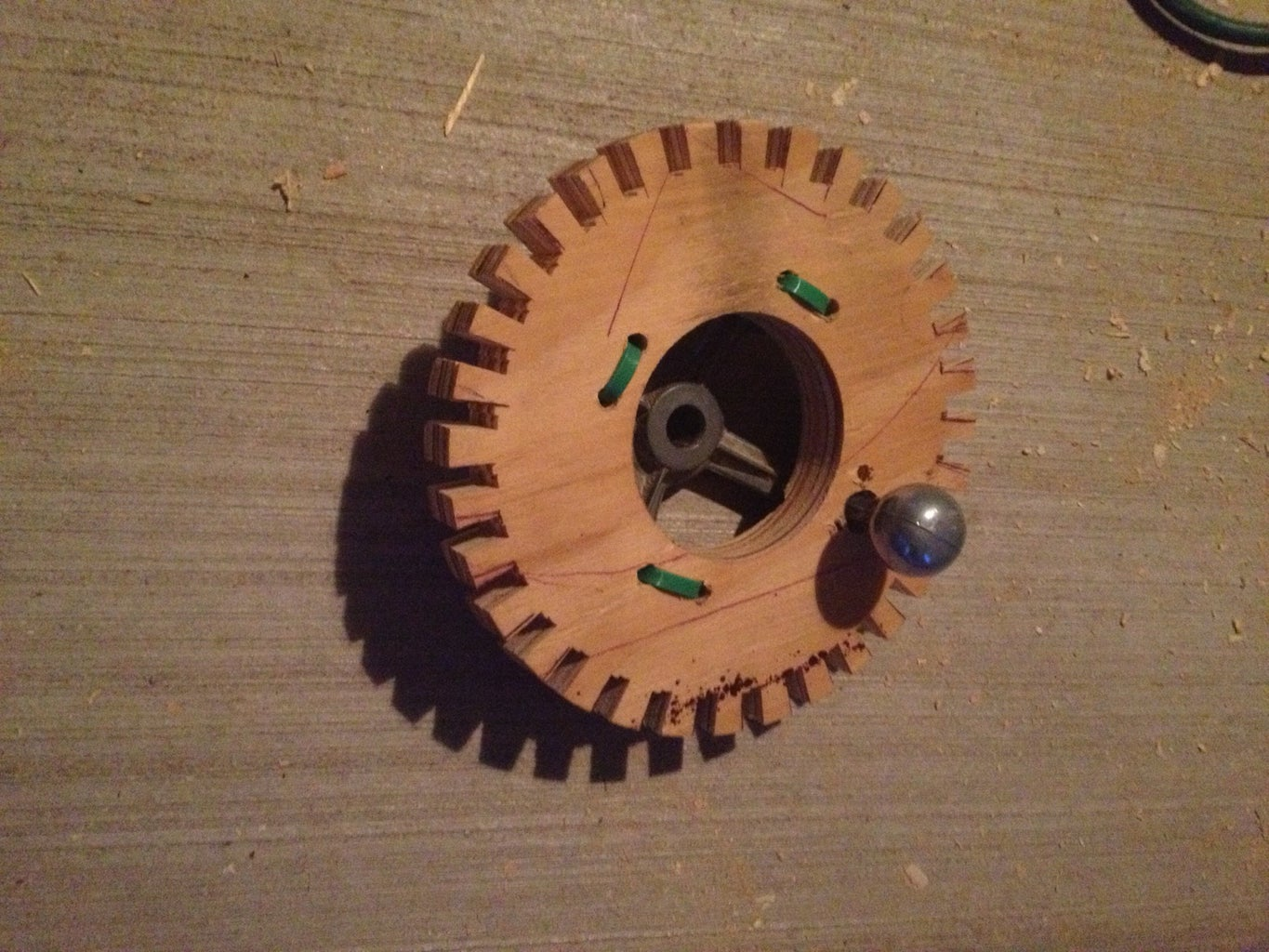 Drilling and Mounting the Gear