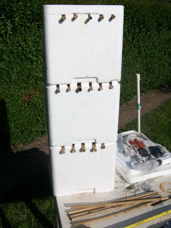 Make Shift Top Bar Bee Hive