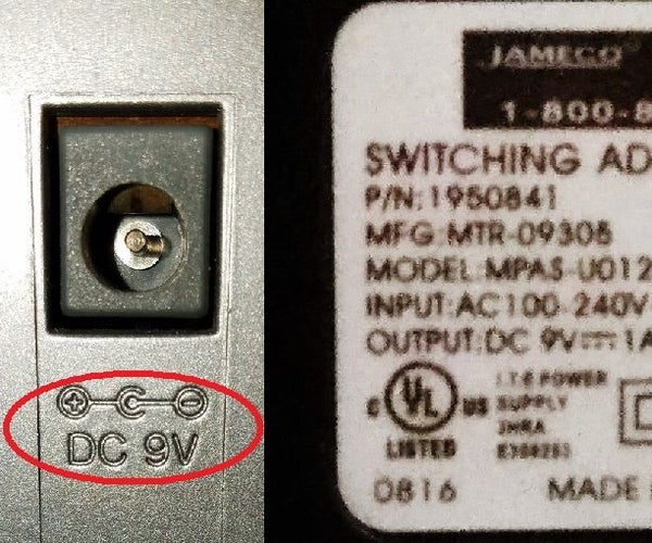 Polarity-Reversing Cable for DC Power Supply