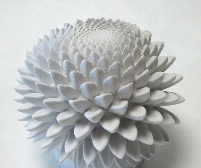 Blooms: Strobe-Animated Phi-Based Sculptures