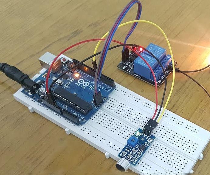 Arduino Whistle Detector Switch Using Sound Sensor Module