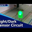 Darkness Sensor Circuit On Breadboard + LIght Detector With LDR