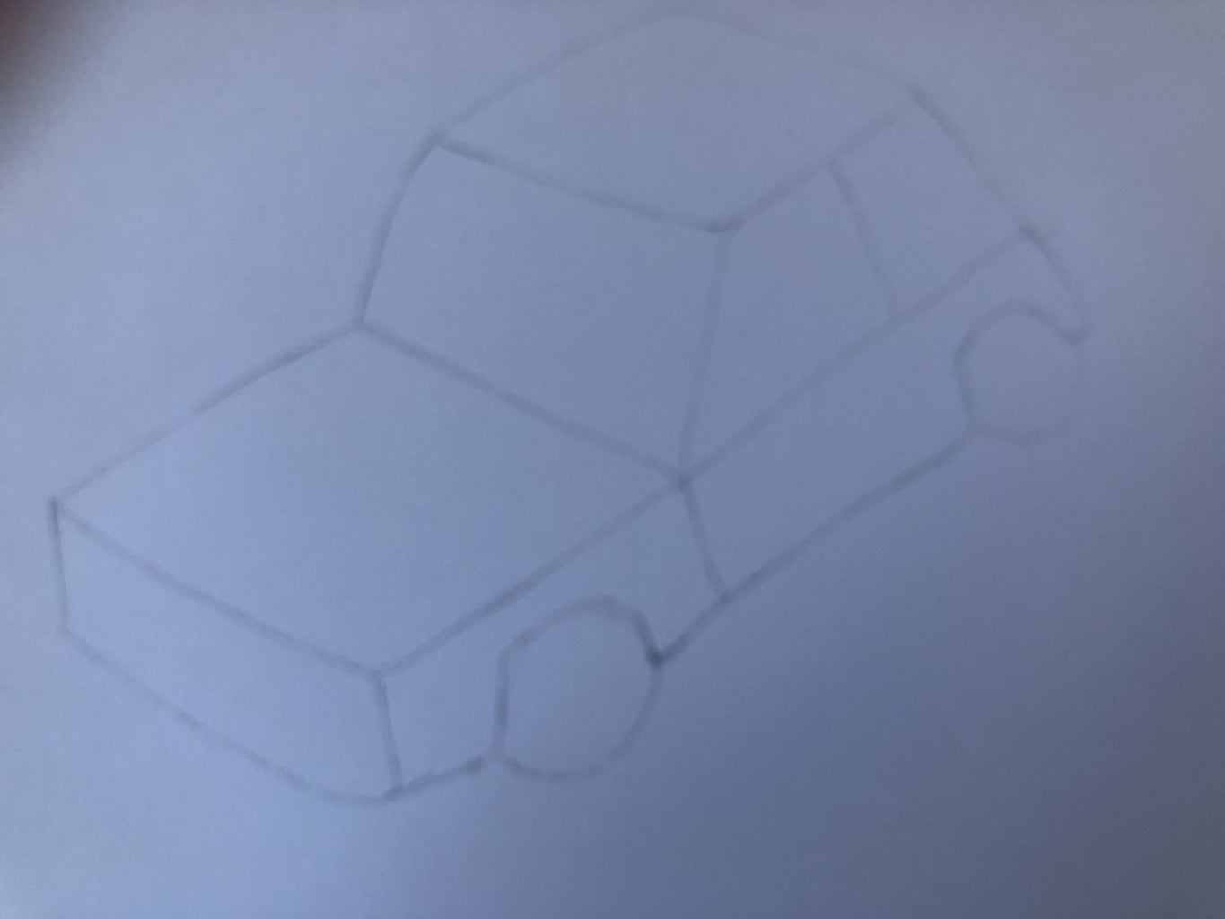 Drawing the Rest of the Side and the Wheels