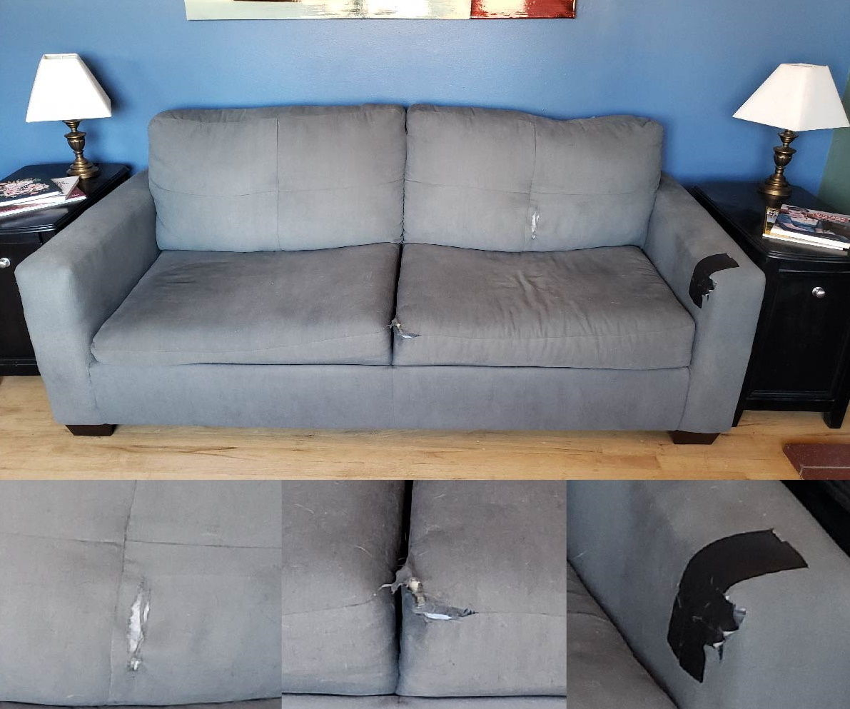 How to Fix a Couch With Torn Upholstery