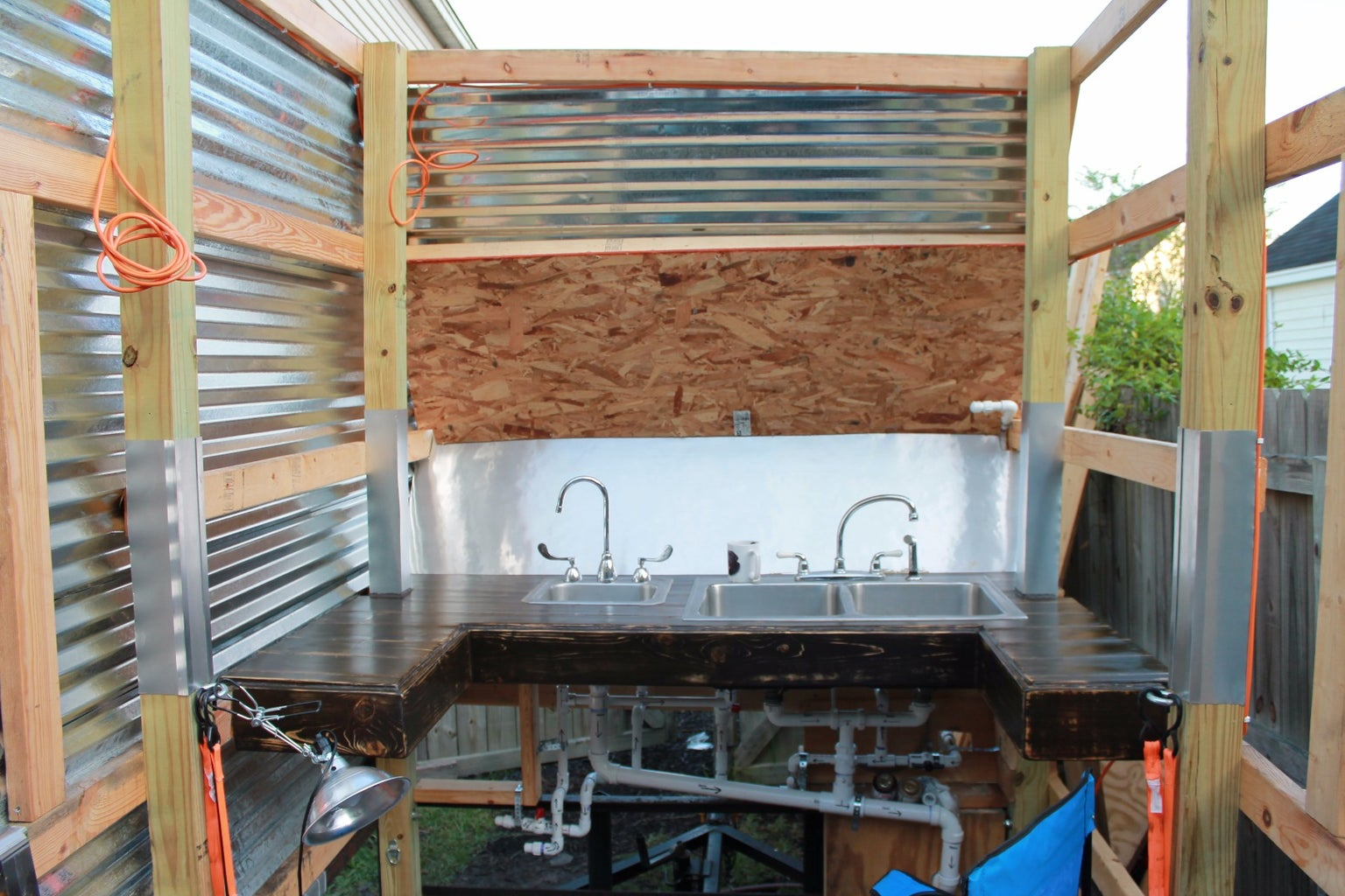 Adding the Metal Siding / Corrugated Metal Sheets