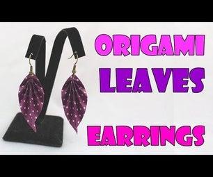 DIY: Origami Paper Earrings Leaves