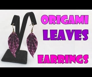DIY: Origami Paper Earrings Leaves