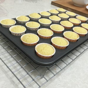 When Baked, Removed Cupcake Pan to Cool on Wire Rack for a Short While.