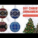 How to Dot Paint DIY Christmas Baubles Ornaments 2020