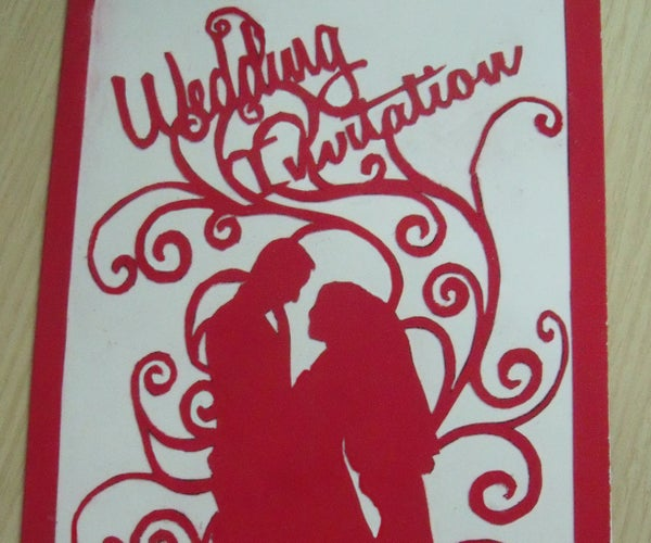 Cut Out Wedding Invitation (ready to Cut Template)