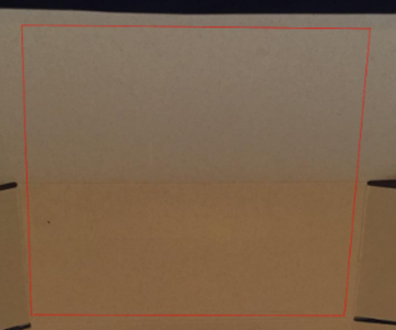 Cut a 21cm by 21cm Square Out of Cardboard