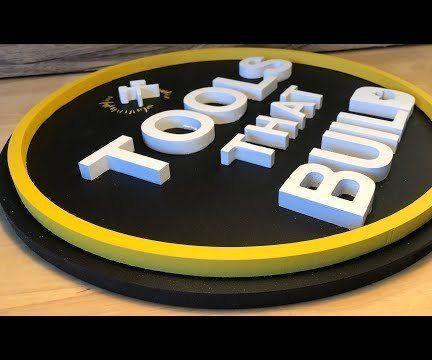 3D Logo Shop Sign