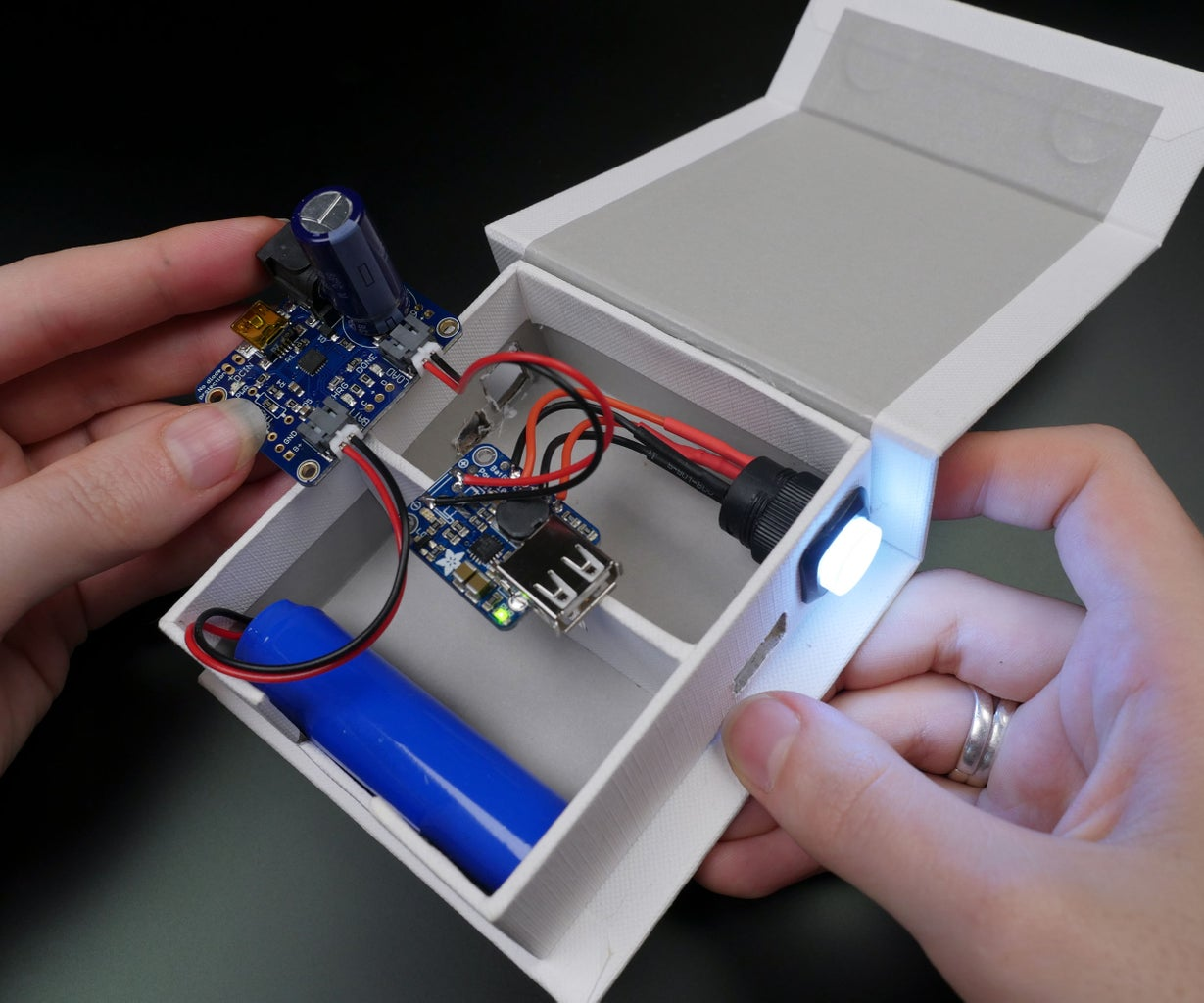 Secure Components Within Enclosure