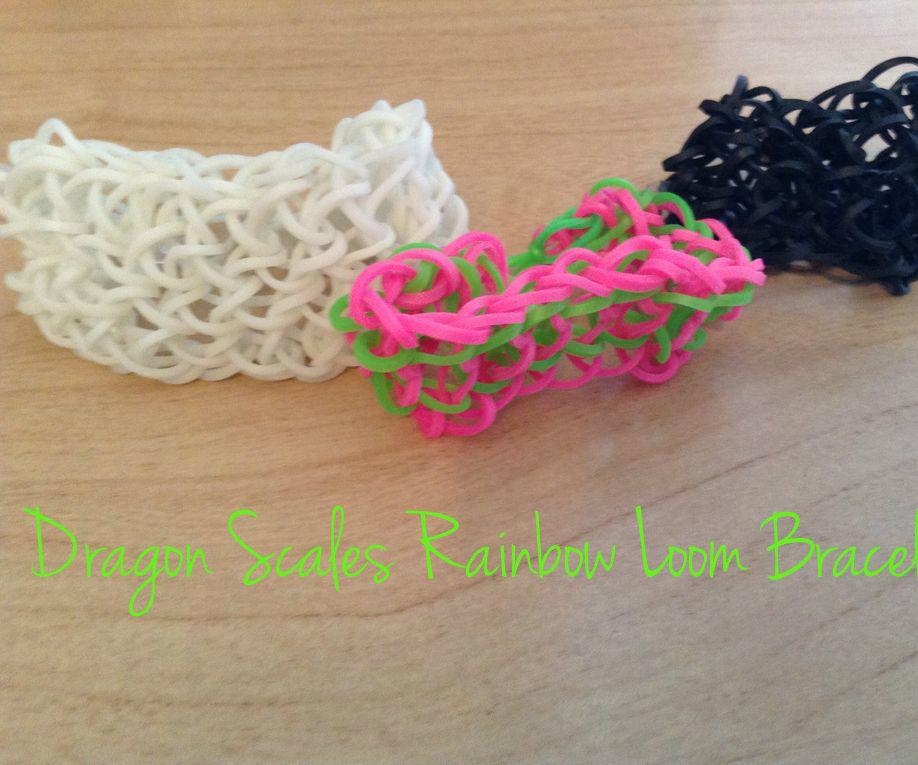 Rainbow Loom Dragon Scales Bracelet
