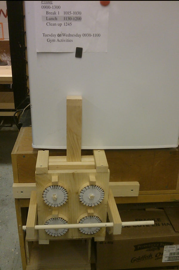 Wooden Dial Combination Lock, With Spring Release and Changable Code