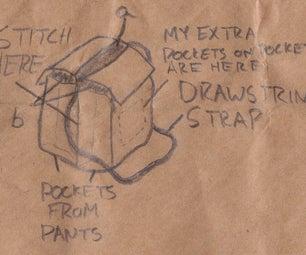 Nifty Salvaged Pocket-Bag (Satchel) or Purse