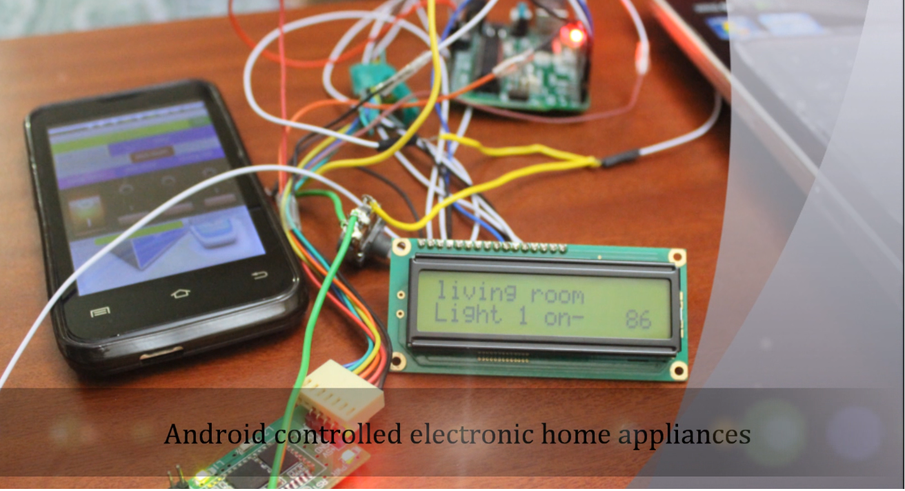 Bluetooth controlled home electronic appliances