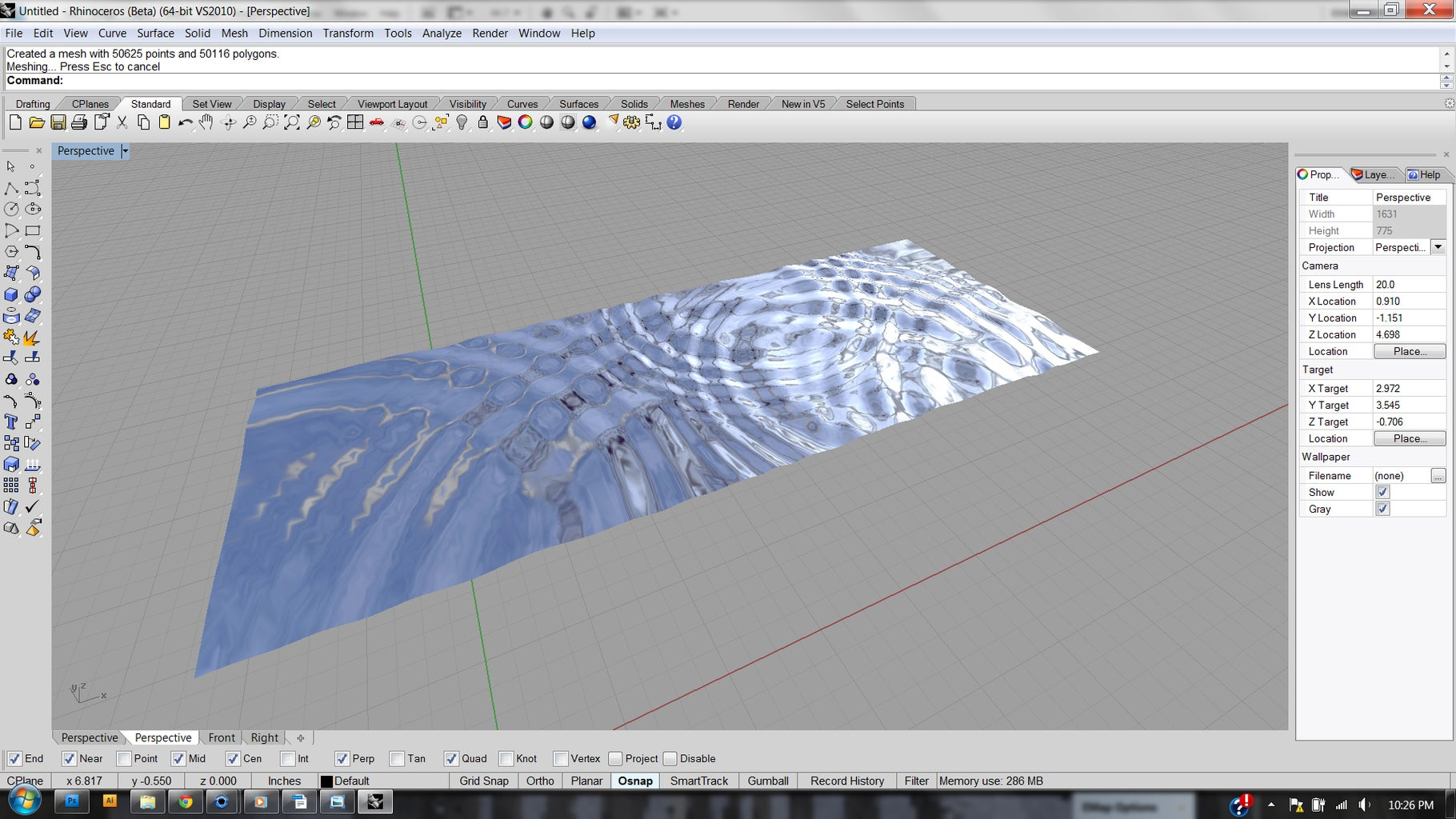 4 - 32 Converting Flat Image to Surface in Rhino 3D