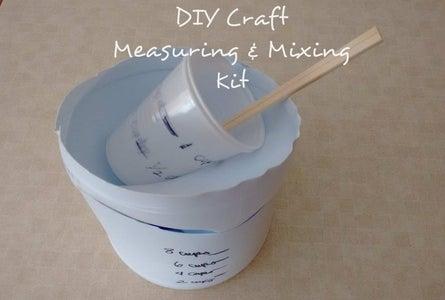 DIY Craft Measuring & Mixing Kit