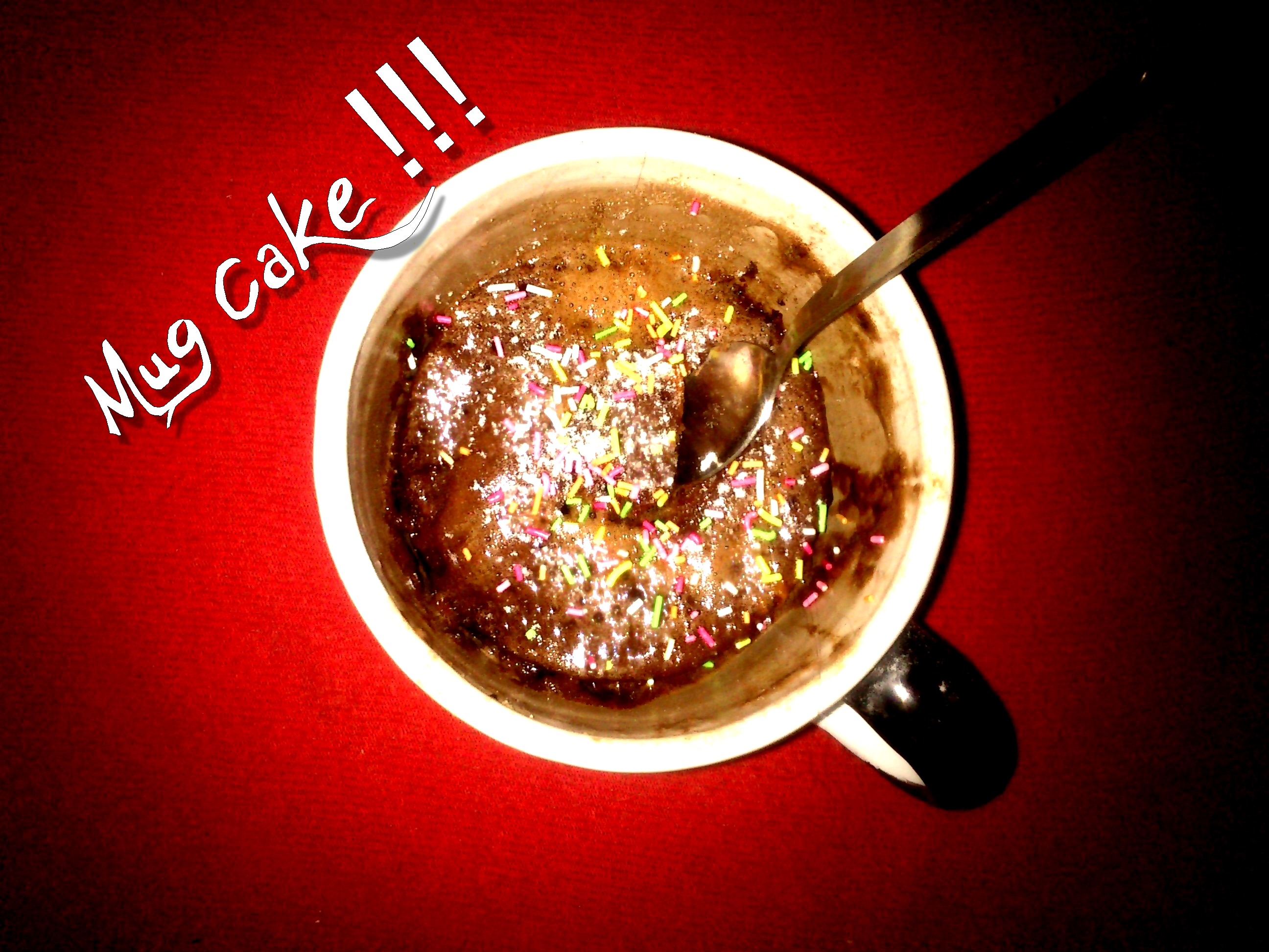 Mug cake (baked in microwave)